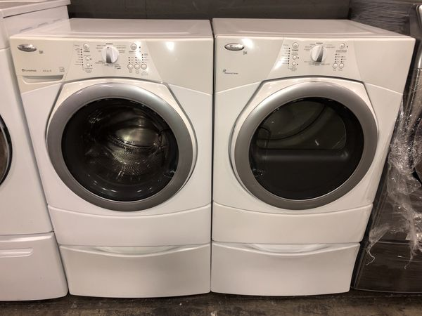WHIRLPOOL DUET LARGE CAPACITY WASHER DRYER ELECTRIC SET 90 DAYS WARRANTY