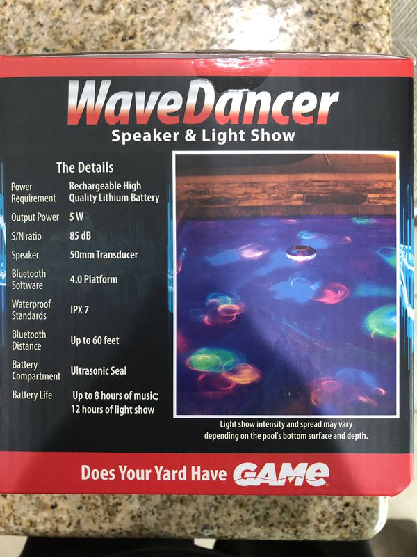 Pool Hot Tub Jacuzzi Bluetooth Speaker LED Light Show