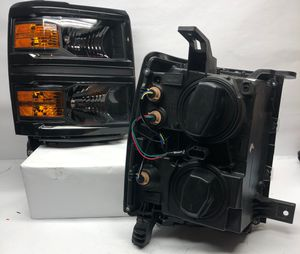 14-15 Chevy Silverado black and amber headlights for Sale in Los Angeles, CA
