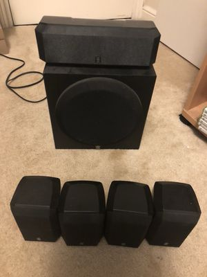 Yamaha 5 speaker surround sound system (Excellent condition) for Sale in San Francisco, CA