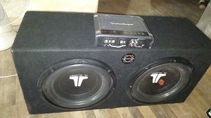 2 Jl audio 12's and Fosgate prime r500 for Sale in Sumner, WA