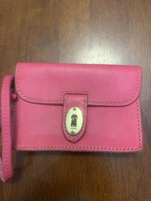 Fossil pink leather wristlet wallet for Sale in Punta Gorda, FL