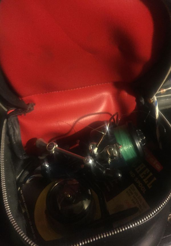 Mitchell 400 fishing reel with case and extra spool
