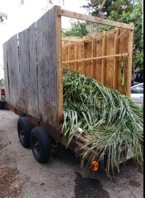16ft x 6 ft Utility trailer (16'3 x 6'3) w/brakes for Sale in BELLEAIR BLF, FL