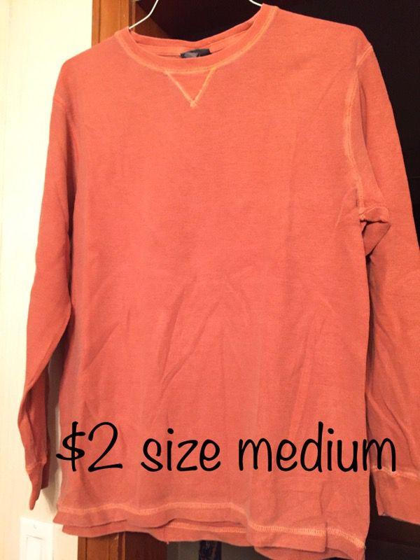 Men's Long Sleeved Shirt size medium