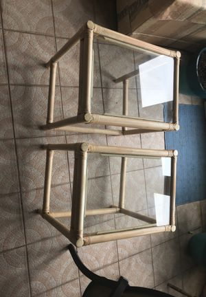 End tables 'glass tops' for Sale in Lake Wales, FL