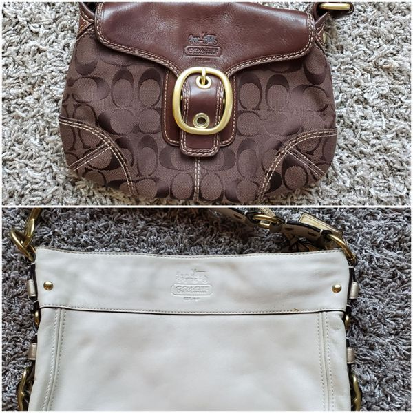 2 used Coach bags / shoulder purses