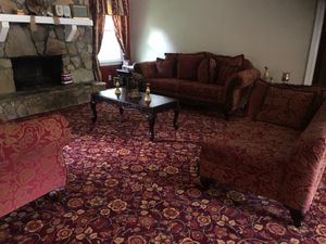 Victorian style couches and coffee table set for Sale in Stone Mountain, GA