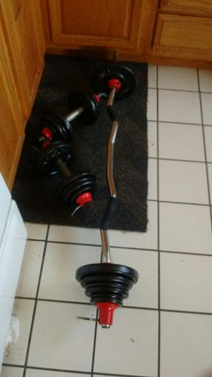 Vintage Health ways 90 lb Curl/Dbell Set!! for Sale in Glenolden, PA