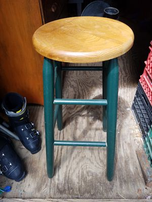 Wooden oak medium height bar stool for Sale in Linglestown, PA