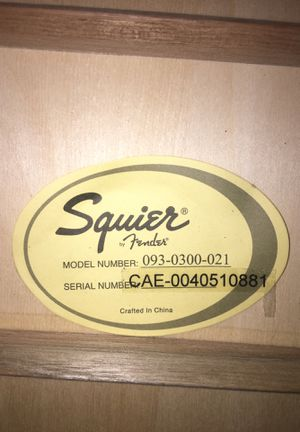 Acoustic guitar Squier fender for Sale in Glendale, AZ