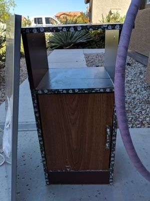 Small wooden shelf and cabinet for Sale in Queen Creek, AZ