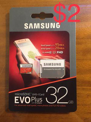 New Samsung Micro SD HC Evo Plus 32 GB for Sale in San Jose, CA