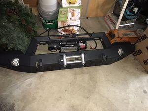 Jeep Front Steel Bumper w/ Lights for Sale in Yorba Linda, CA