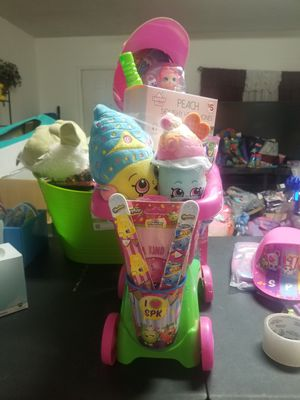 Shopkins shopping carts Easter Baskets for Sale in San Antonio, TX