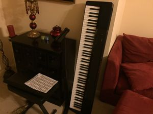 Piano with stand and stool for Sale in Houston, TX