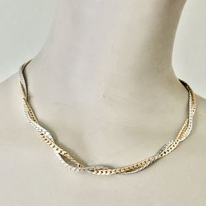 Vintage Avon 2 tone Silver and Gold Plated Twisted Chain Choker 3mm Necklace 15 inch It is really pretty and is in Great Condition is Pre Owned for Sale in Mountain View, CA