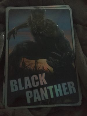 Black panther art decor metal sign marvel 9x13in for Sale in New Brunswick, NJ