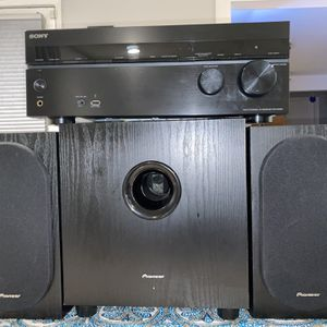 Sony STR-DN840 Home Theater System Paired With Pioneer Speakers And Subwoofer for Sale in Bellevue, WA