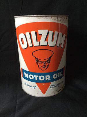 Oilzum 5 Quart Full Motor Oil Can for Sale in Salisbury, MA