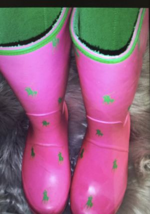 Polo rain boots use swimsuit size 3 youth for Sale in Rancho Dominguez, CA
