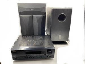 Onkyo Receiver with Subwoofer Center Right and Left Speakers for Sale in Canby, OR