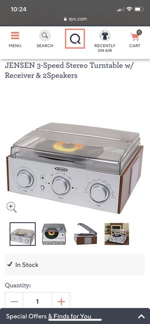Jensen turntable / record player with built in speakers for Sale in Los Angeles, CA