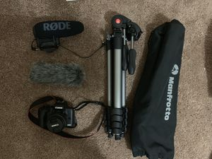 camera stander, mic rode pro, and dead cat rode for Sale in Moon, PA