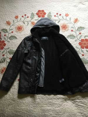 Leather Hoddie Jacket for Sale in Kingsley, MI