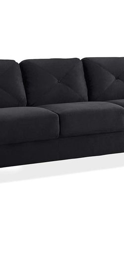Black Suede Sette (small couch) for Sale in Austin,  TX