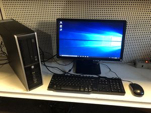hp desktop WIN 10 , i3 processor comes with monitor keyboard and mouse for Sale in Medford, MA
