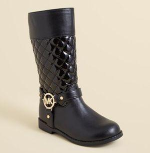MICHAEL KORS GIRLS BLACK BOOTS SIZE 3 for Sale in Orange Park, FL