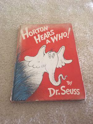 1954 Horton Hears a who book for Sale in Aurora, IL