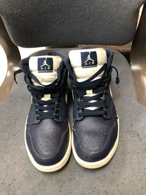 Air Jordan 1 retro mid obsidian white for Sale in Greensboro, NC