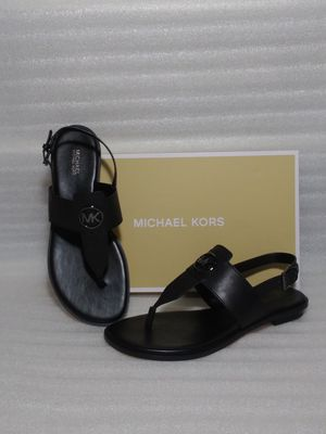 Michael Kors sandals. Size 8.5 women's shoe. Black leather. Brand new in box for Sale in Portsmouth, VA