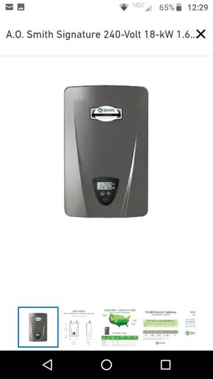 Electric tankless water heater for Sale in Federal Way, WA