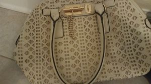 Black backpack and ivory purse for Sale in Tampa, FL