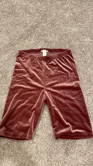 Dark pink velvet biker shorts, Size Small. for Sale in Vista, CA