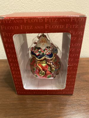 Blown Glass Santa Xmas ornament by Fritz and Floyd for Sale in Everett, WA