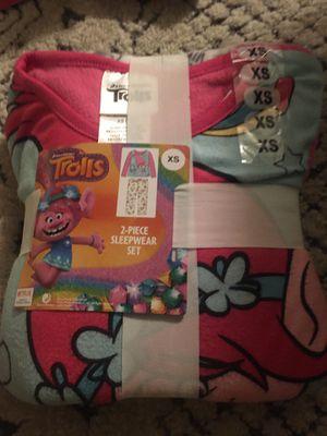 Trolls 2 piece Sleepwear set size XS for Sale in Poway, CA