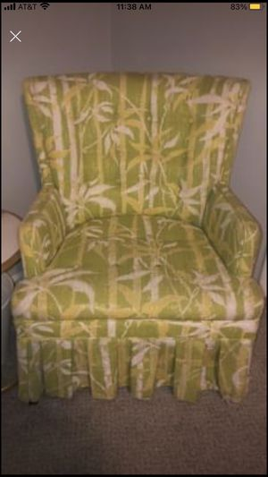 Vintage green and yellow print chair for Sale in Aurora, CO