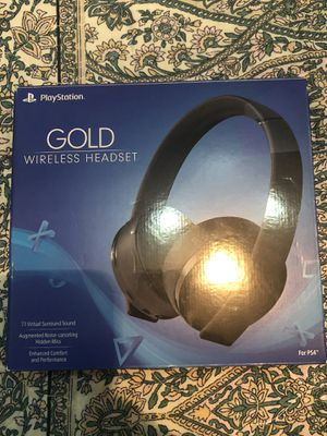 Playstation Gold Wireless Stereo Headset for Sale in San Antonio, TX