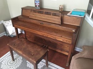 Upright Piano and Bench for Sale in Camp Lejeune, NC