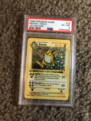 1999 PSA 6 Raichu Holo Pokemon 14/102 1st Edition Pokémon for Sale in San Diego, CA