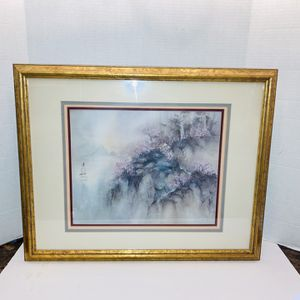 """RARE Lena Liu Limited Edition Print """"Spring"""" 1999 Framed & Matted, Signed, Numbered 895/950 & COA Certificate Of Authenticity for Sale in Hudson, FL"""