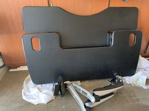 VariDesk 48 with dual monitor arm and chair - desk for Sale in Phoenix, AZ