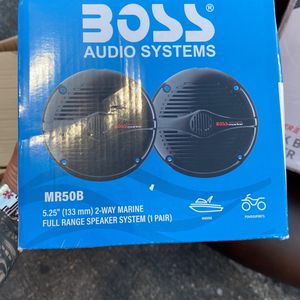 Boss audio speakers 5 1/4 for marine use for Sale in Pompano Beach, FL