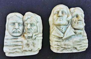 Large Mt. RUSHMORE patriotic MAGA ceramic salt and pepper shakers S&P set MIB cracker barrel for Sale in Saginaw, MI