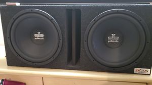 2 db Polk audio 12s with amp for Sale in Dallas, GA