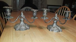 2 Gorham silver plate candelabras for Sale in Weymouth, MA